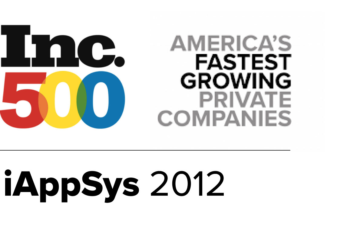 iAppSys awarded Fastest Growing Company in 2012 by Inc. Magazine